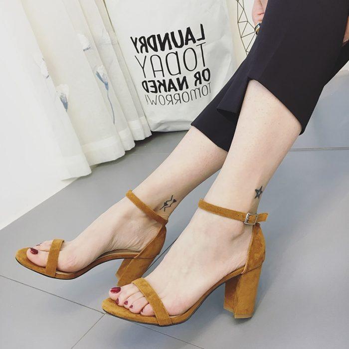 Strappy Sandals Fashion Gladiator Heels