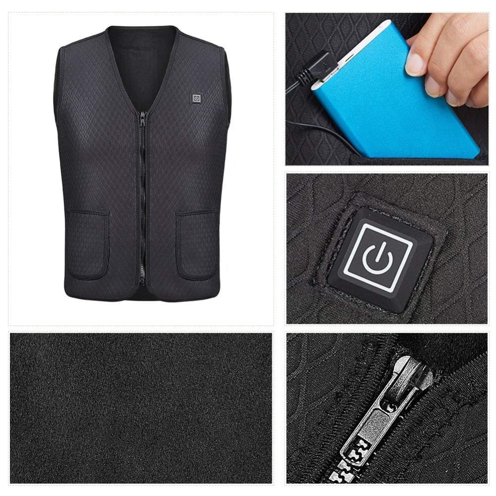 Heated Clothing Vest Usb Outerwear Life Changing Products