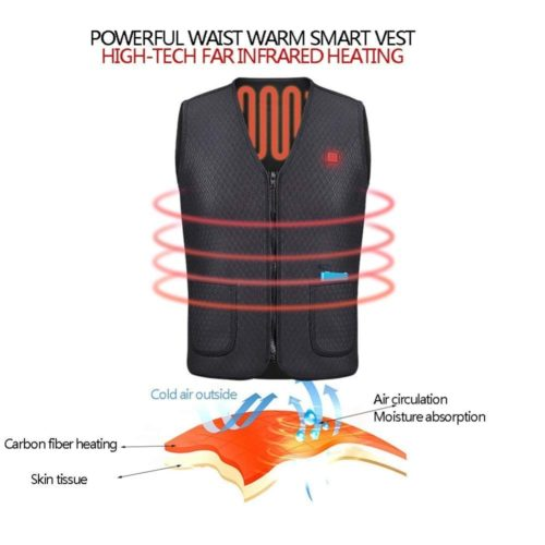 Heated Clothing Vest USB Outerwear