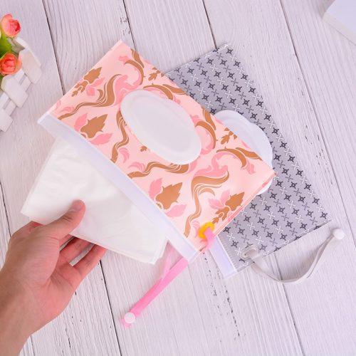 Wet Wipes Case Reusable Ziplock Bag