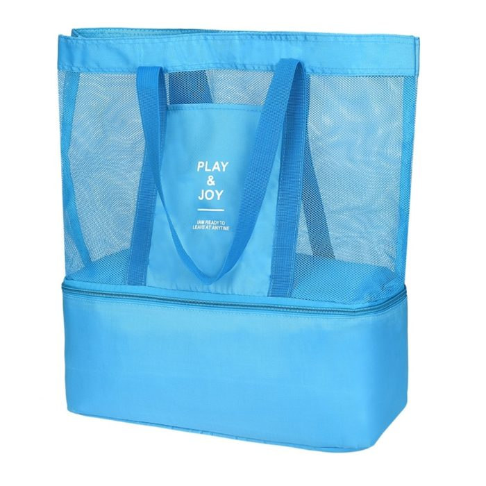 Beach Large Tote Bag with Insulated Storage