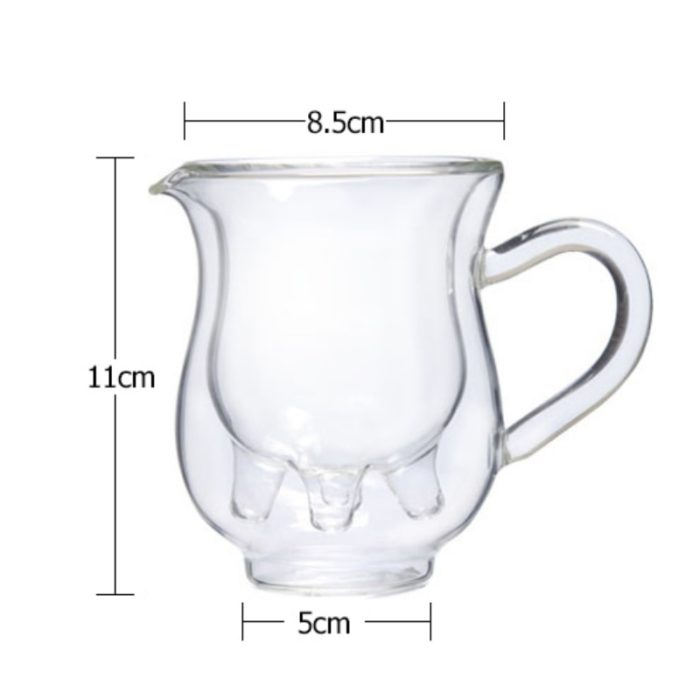 Milk Jug Creative Cow Glass Pitcher