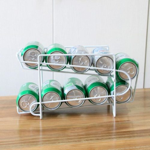 Can Dispenser Fridge Storage Rack