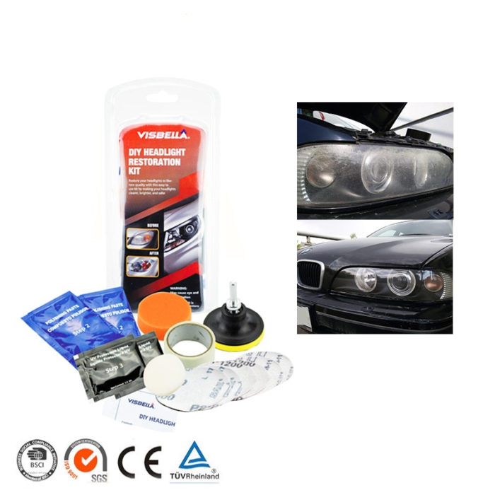 Car Headlight Cleaner and Brightener Kit
