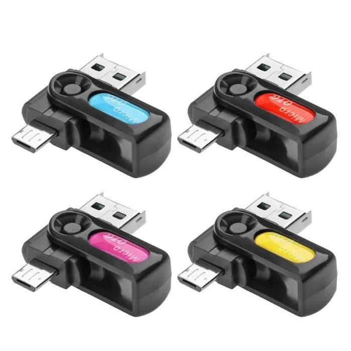 USB Card Reader 2-in-1 Adapter