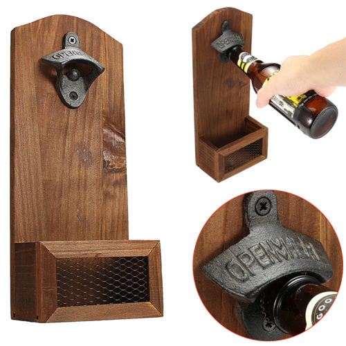 Wall Mounted Bottle Opener Vintage Theme