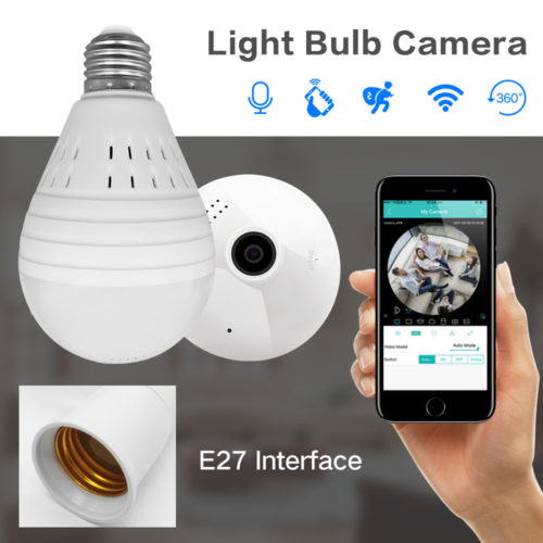 Surveillance Camera Bulb Light Wireless IP
