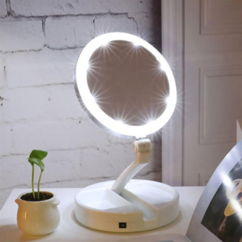 Portable LED Powered Vanity Mirror
