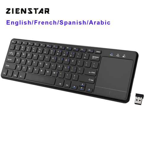 Wireless Keyboard USB Touch Pad