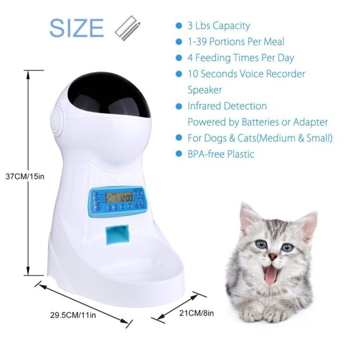 Automatic Cat Feeder with Voice Recorder