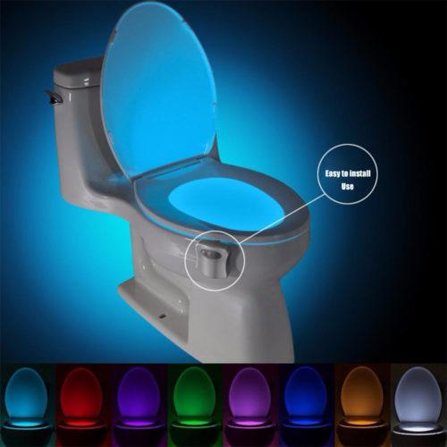 Waterproof Motion Sensor Toilet Light