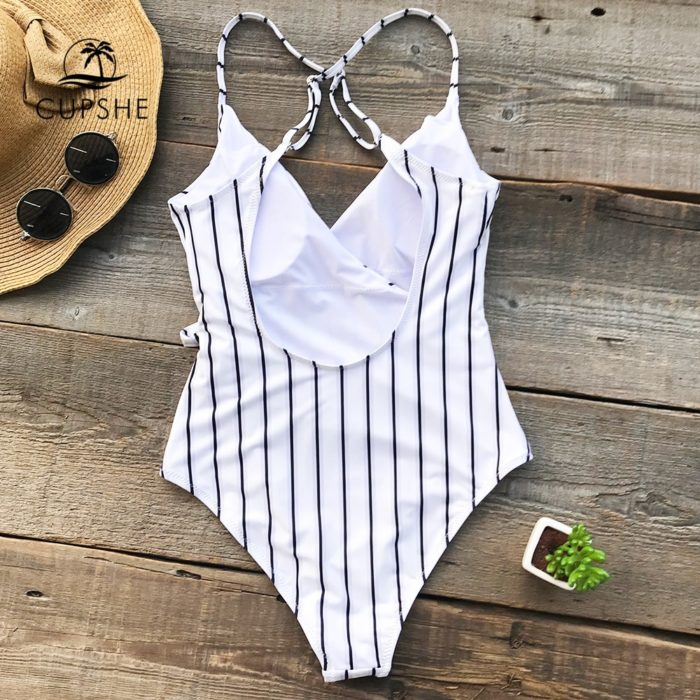 One Piece Swimwear Stripes Monokini