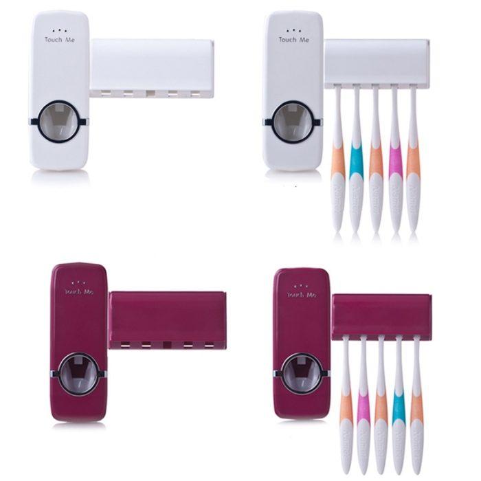 Affordable Dental Care Toothbrush Holder / Toothpaste Dispenser Set