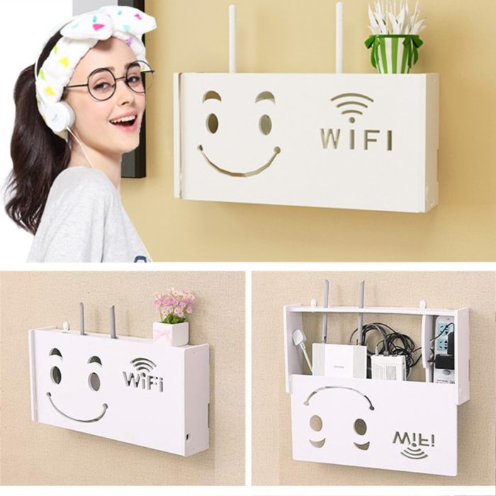 Small Shelf WiFi Router Storage Box