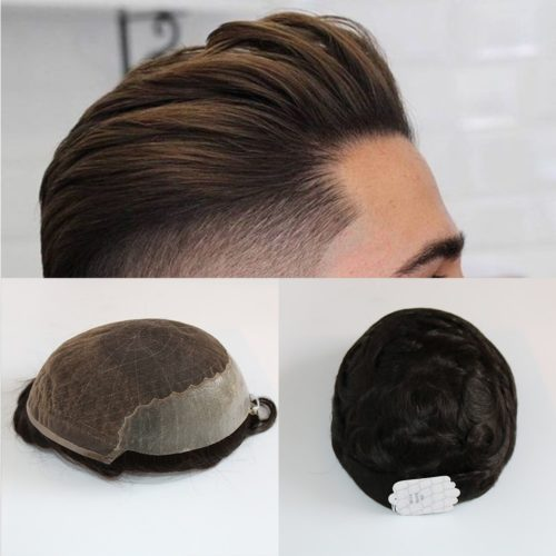 Men Wig Partial Hairpiece Toupee