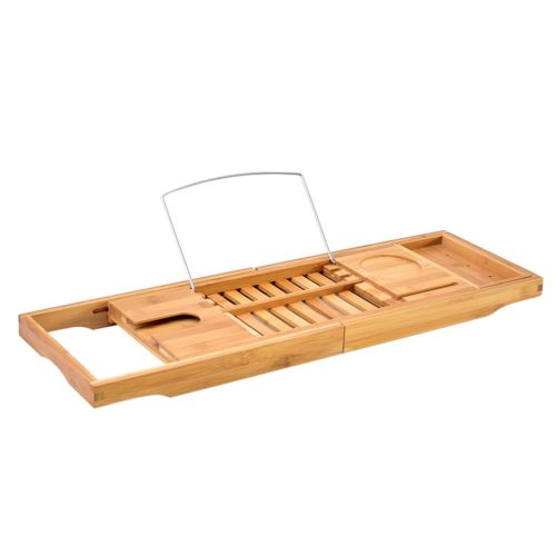 Bathtub Caddy Wooden Tray Shelf