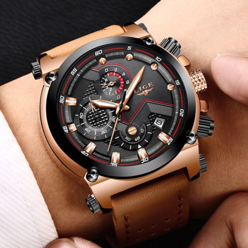 Sports Watch for Men Leather