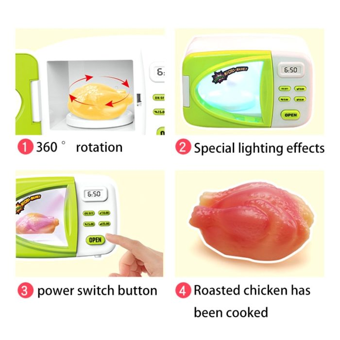 Toy Microwave Set Simulation Oven
