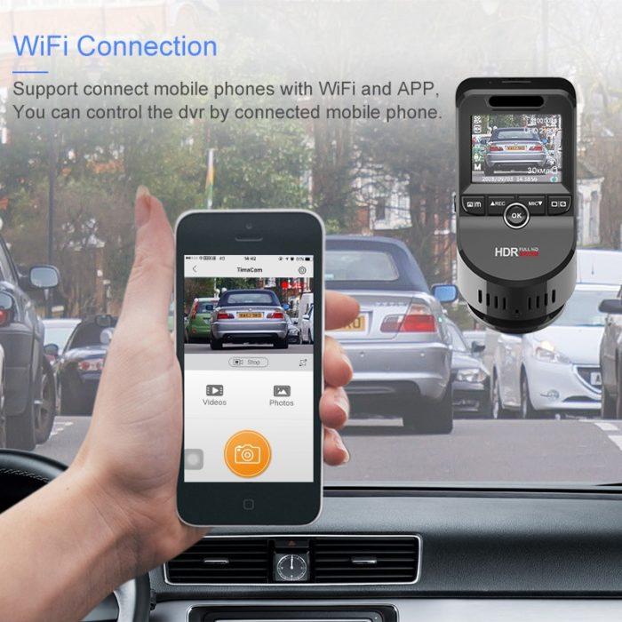Dashboard Camera Ultra HD with Wi-fi