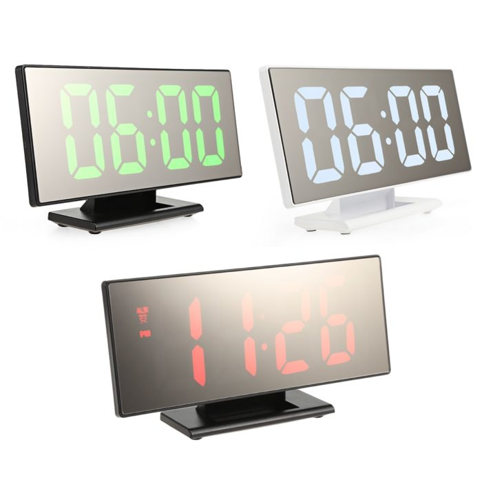 Mirror Clock with Digital Display Time