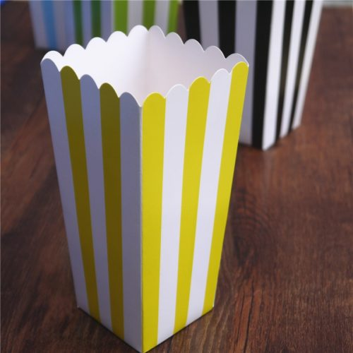 6pcs Popcorn Boxes Paper Containers