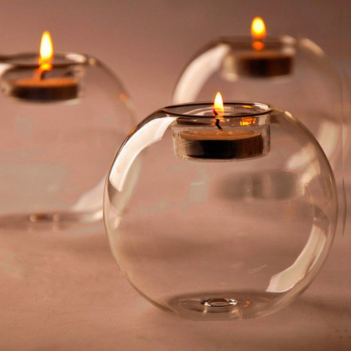 Classic Crystal Glass Candle Holders