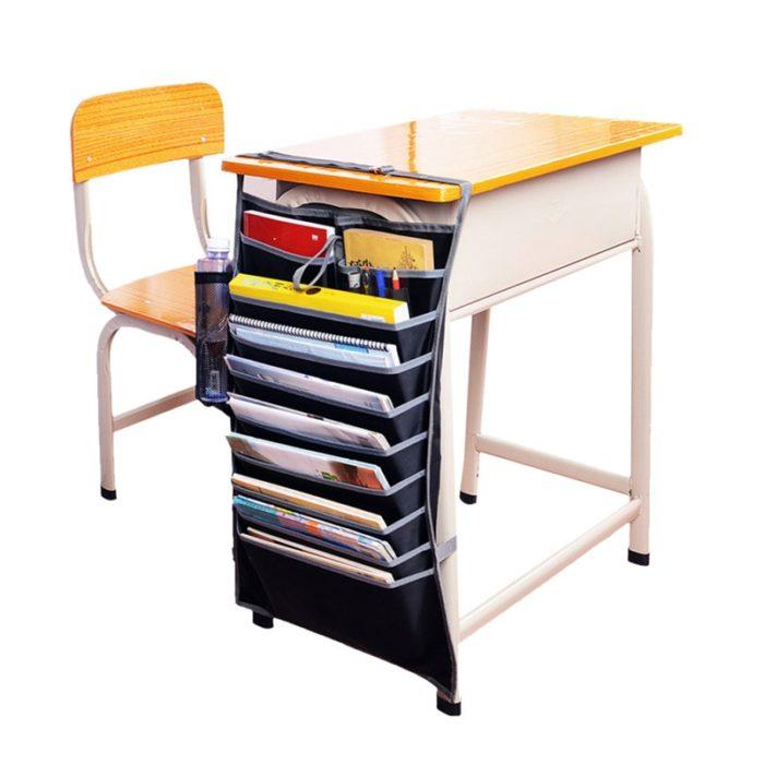 Book Organizer School Desk Pouches