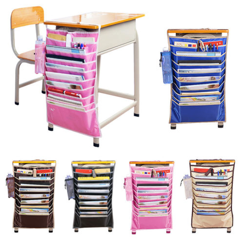 Book Organizer School Desk Pouches