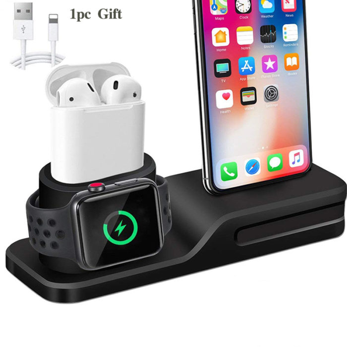 iPhone Charging Station with 3-in-1 Function