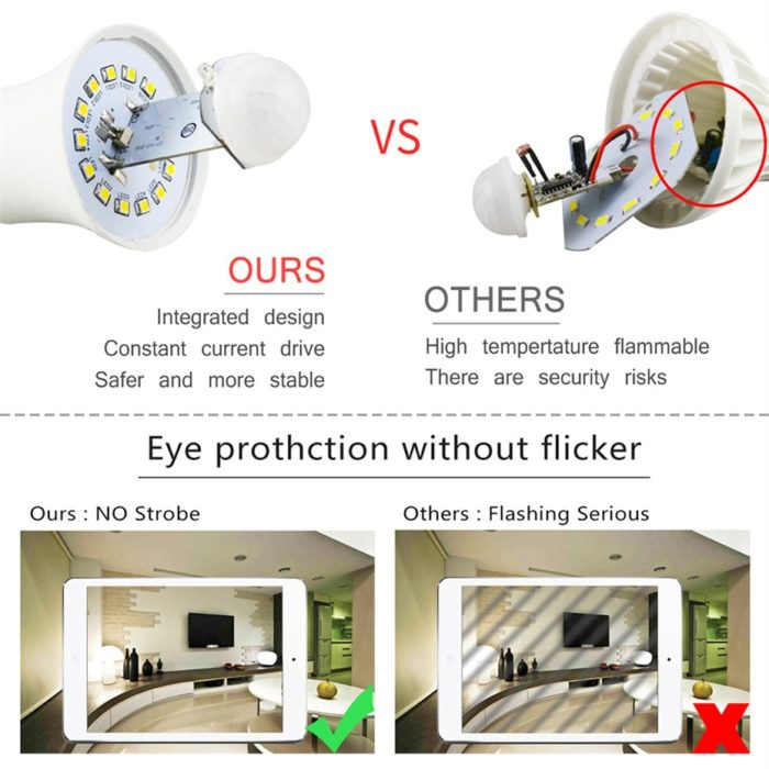 Smart LED Motion Sensor Light Bulb