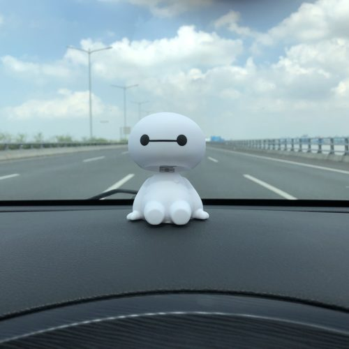 Car Decoration Baymax Shaking Head Figure