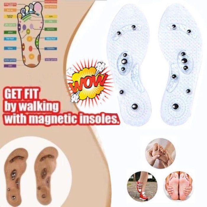 Eight Grain Magnetic Acupressure Feet Insole Massage