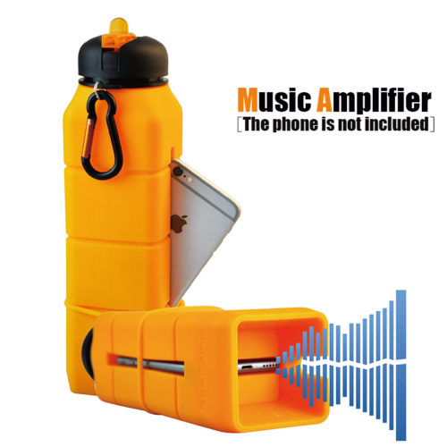 Silicone Drink Bottles with Phone Amplifier