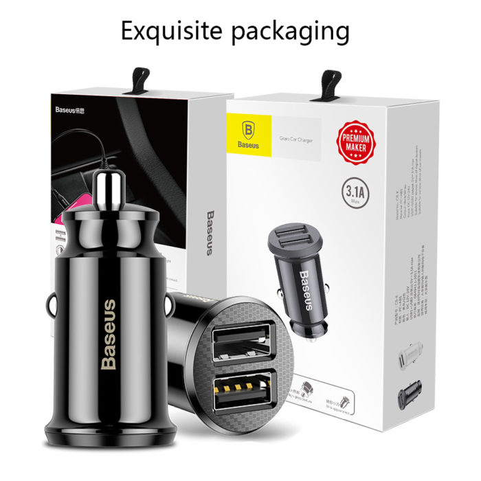 USB Car Charger for Mobile Devices