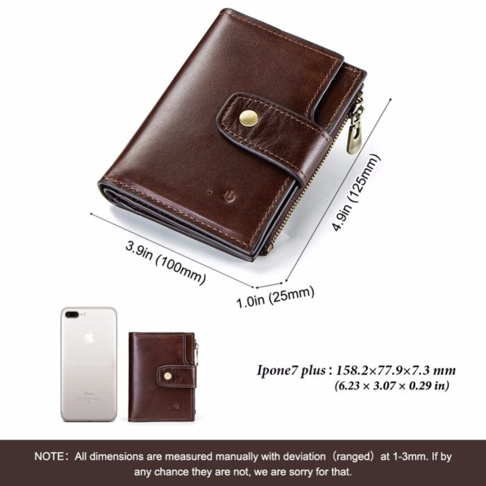 Smart Wallet with Genuine Leather Hasp Design