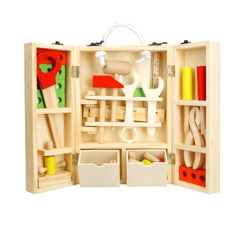 Kids Tool Set Carpenter Wooden Toys