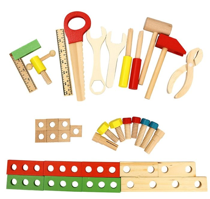 Kids Tool Set Carpenter Wooden Toys