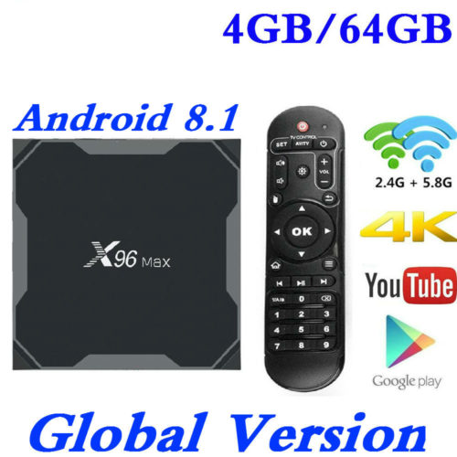 Android TV Box 8.1 with Quad-Core Processor