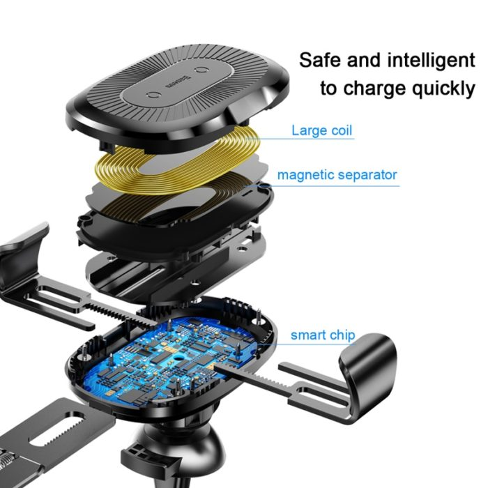 Wireless Mobile Charger and Holder for Car