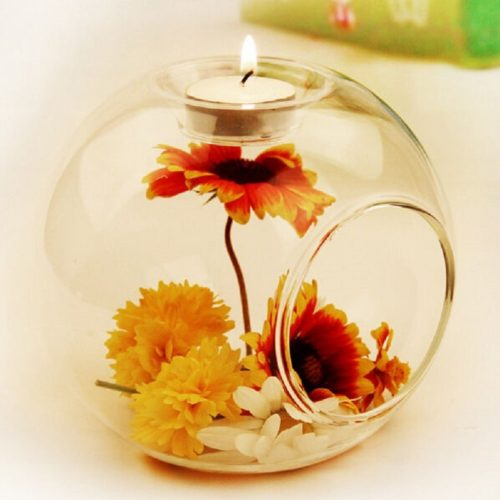 Glass Candle Holder Home Decor