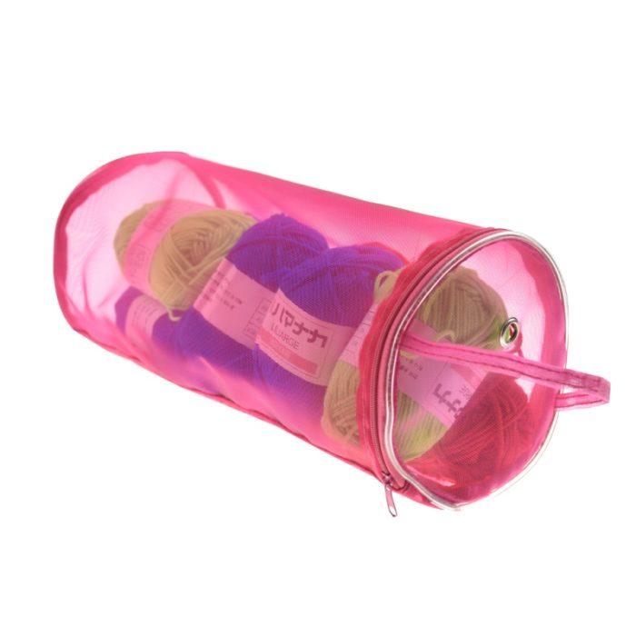 Knitting Bag Round Storage Basket