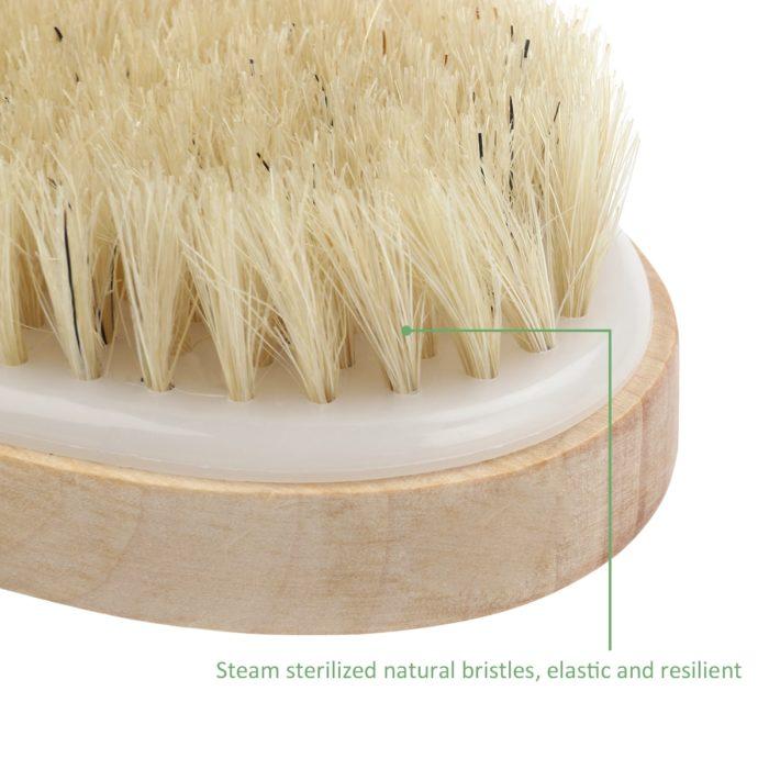 Dry Body Brush Wooden Bath Scrub