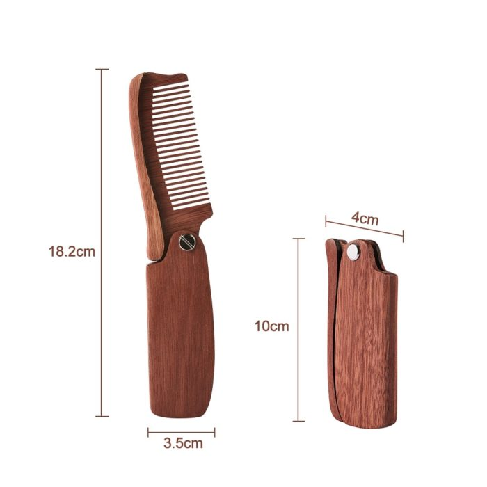 Beard Comb Wooden Hair Styling Brush