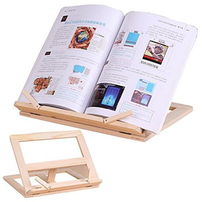 Book Holder Wooden Frame Stand