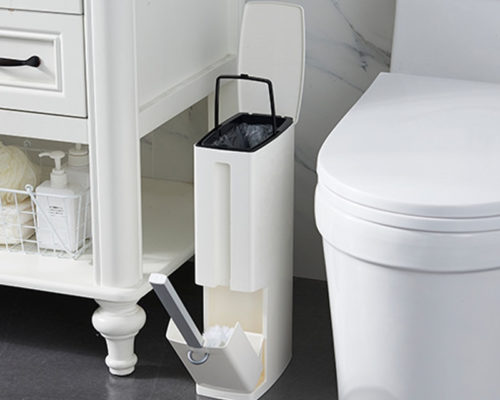 6L Bathroom Trash Can with Brush