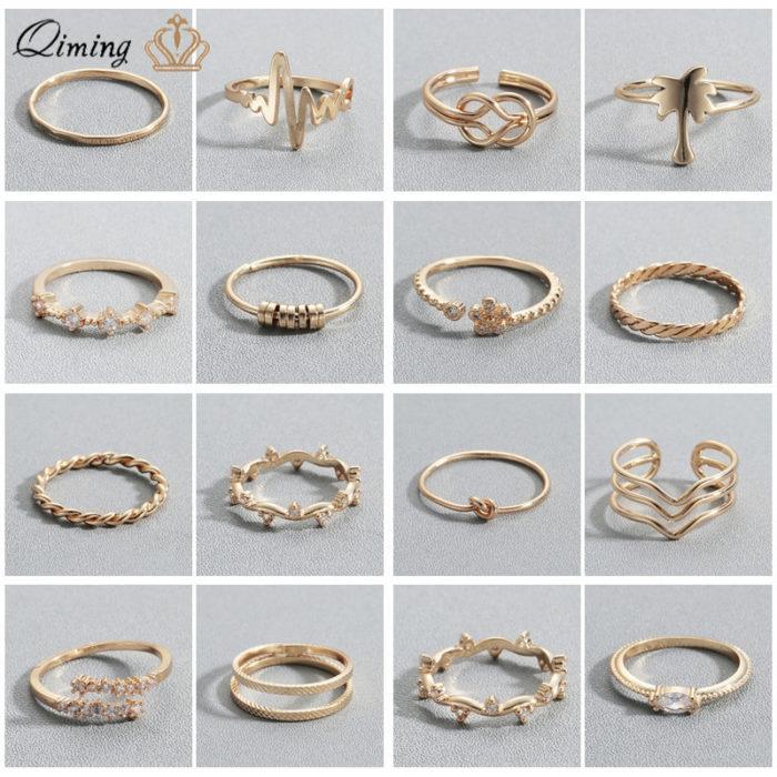 Dainty Rings Minimalist Women Jewelry