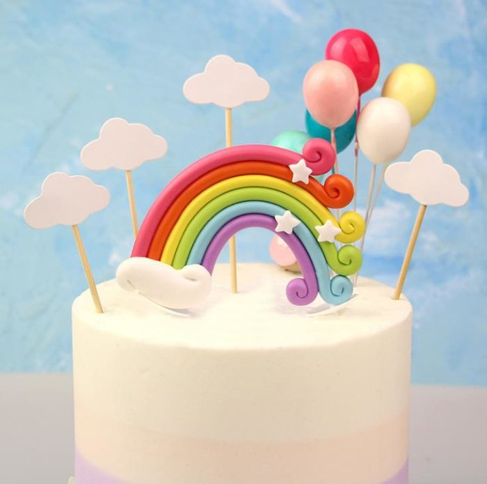 Cake Toppers Colorful Baking Decors