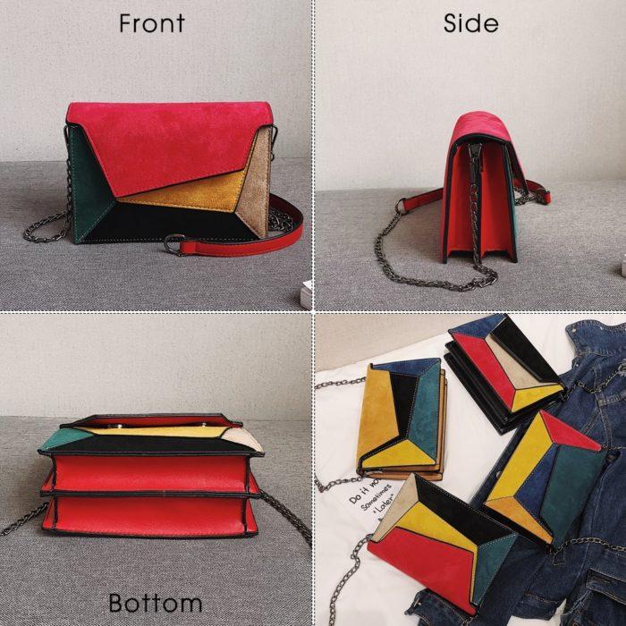 Leather Crossbody Purse Messenger Bag