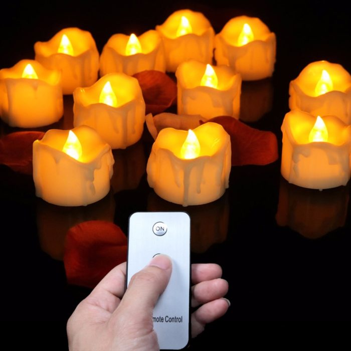 12pcs Battery Operated Candles Remote Light
