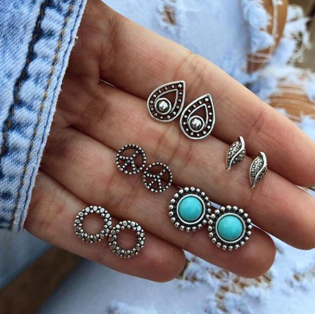 Vintage Earrings Stud Fashion Jewelry